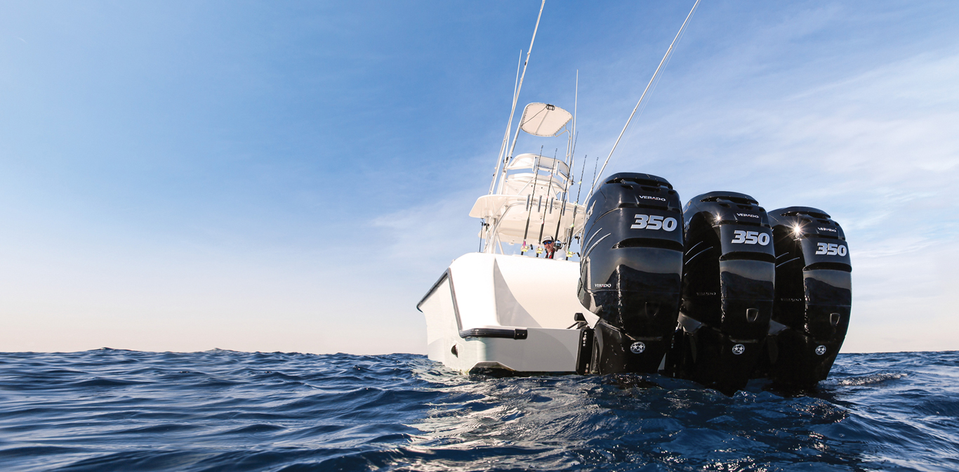 Fishing with Mercury Triple 350 Verado Sea Vee Outboards
